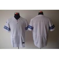 Nike Cowboys Blank White Men's Stitched NFL Elite Jersey