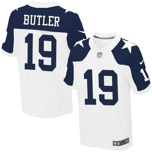 864abffe27e Nike Dallas Cowboys #19 Brice Butler White Thanksgiving Throwback Men's  Stitched NFL Elite Jersey