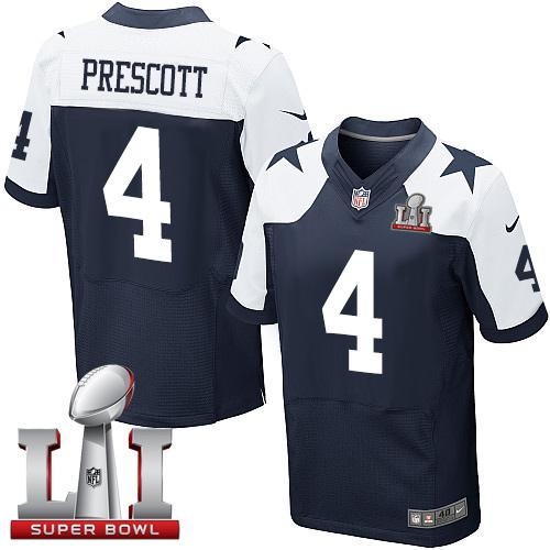 lowest price a67f6 0d453 Nike Dallas Cowboys #4 Dak Prescott Navy Blue Thanksgiving ...