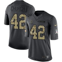 Nike Dallas Cowboys #42 Barry Church Anthracite Men's Stitched NFL Limited 2016 Salute To Service Jersey