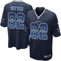 Nike Dallas Cowboys #82 Jason Witten Navy Blue Team Color Men's Stitched NFL Limited Strobe Jersey