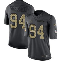 Nike Dallas Cowboys #94 Randy Gregory Anthracite Men's Stitched NFL Limited 2016 Salute To Service Jersey