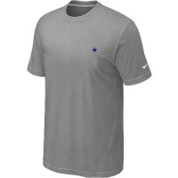 Nike Dallas Cowboys Chest Embroidered Logo T-Shirt Grey