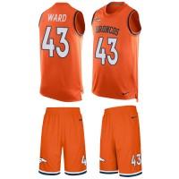 Nike Denver Broncos #43 T.J. Ward Orange Team Color Men's Stitched NFL Limited Tank Top Suit Jersey