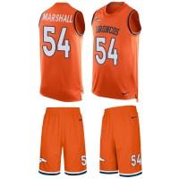 Nike Denver Broncos #54 Brandon Marshall Orange Team Color Men's Stitched NFL Limited Tank Top Suit Jersey