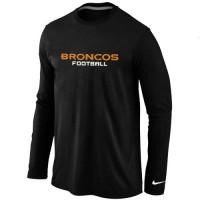 Nike Denver Broncos Authentic Font Long Sleeve T-Shirt Black