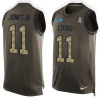 Nike Detroit Lions #11 Marvin Jones Jr Green Men's Stitched NFL Limited Salute To Service Tank Top Jersey
