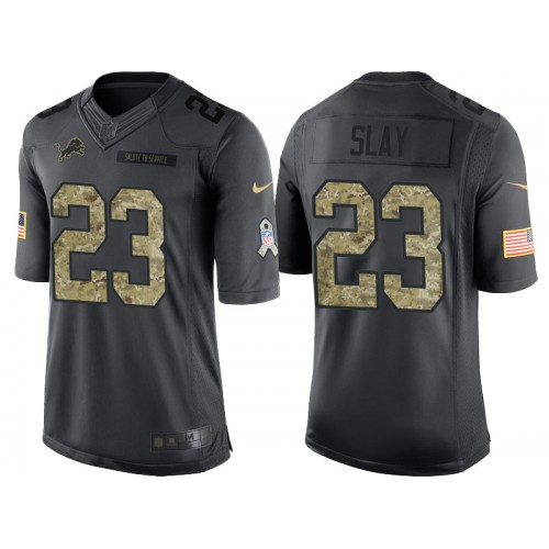 finest selection a390e ad1f2 Nike Detroit Lions #23 Darius Slay Men's Stitched Anthracite ...