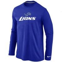 Nike Detroit Lions Authentic Logo Long Sleeve T-Shirt Blue