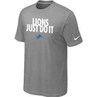 Nike Detroit Lions Just Do It Light Grey T-Shirt