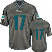 Nike Dolphins #17 Ryan Tannehill Grey Youth Stitched NFL Elite Vapor Jersey