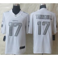 Nike Dolphins #17 Ryan Tannehill White Men's Stitched NFL Limited Platinum Jersey