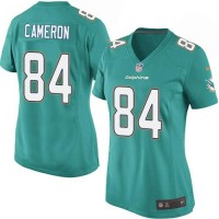 Nike Dolphins #84 Jordan Cameron Aqua Green Team Color Women's Stitched NFL Elite Jersey