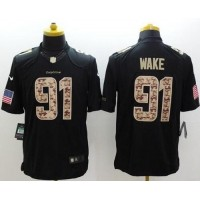 Nike Dolphins #91 Cameron Wake Black Men's Stitched NFL Limited Salute to Service Jersey