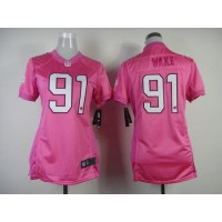 Nike Dolphins #91 Cameron Wake Pink Women's Be Luv'd Stitched NFL New Elite Jersey