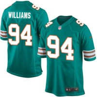 Nike Dolphins #94 Mario Williams Aqua Green Alternate Youth Stitched NFL Elite Jersey