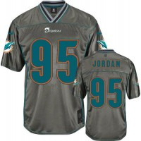 Nike Dolphins #95 Dion Jordan Grey Men's Stitched NFL Elite Vapor Jersey