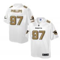 Nike Dolphins #97 Jordan Phillips White Men's NFL Pro Line Fashion Game Jersey