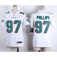 Nike Dolphins #97 Jordan Phillips White Women's Stitched NFL New Elite Jersey