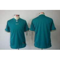 Nike Dolphins Blank Aqua Green Team Color Youth Stitched NFL Limited Jersey