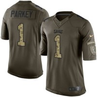 Nike Eagles #1 Cody Parkey Green Men's Stitched NFL Limited Salute to Service Jersey