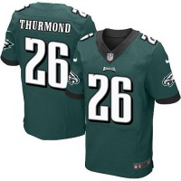Nike Eagles #26 Walter Thurmond Midnight Green Team Color Men's Stitched NFL New Elite Jersey