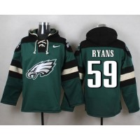 Nike Eagles #59 DeMeco Ryans Midnight Green Player Pullover NFL Hoodie
