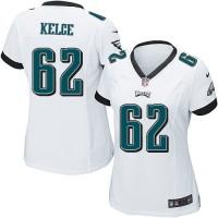 Nike Eagles #62 Jason Kelce White Women's Stitched NFL New Elite Jersey