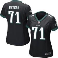 Nike Eagles #71 Jason Peters Black Alternate Women's Stitched NFL New Elite Jersey