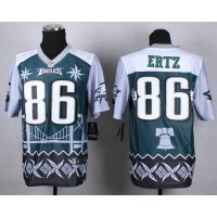 Nike Eagles #86 Zach Ertz Midnight Green Men's Stitched NFL Elite Noble Fashion Jersey