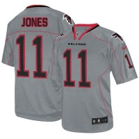 Nike Falcons #11 Julio Jones Lights Out Grey Youth Stitched NFL Elite Jersey