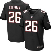 Nike Falcons #26 Tevin Coleman Black Alternate Men's Stitched NFL Elite Jersey