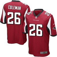 Nike Falcons #26 Tevin Coleman Red Team Color Youth Stitched NFL Elite Jersey