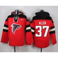 Nike Falcons #37 Ricardo Allen Red Player Pullover NFL Hoodie