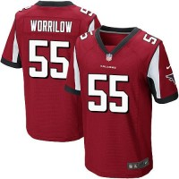 Nike Falcons #55 Paul Worrilow Red Team Color Men's Stitched NFL Elite Jersey