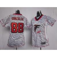 Nike Falcons #88 Tony Gonzalez Zebra Women's Stitched NFL Elite Jersey