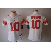 Nike Giants #10 Eli Manning White Women's Stitched NFL Limited Jersey