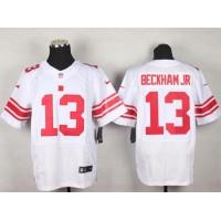Nike Giants #13 Odell Beckham Jr White Men's Stitched NFL Elite Jersey