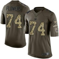 Nike Giants #74 Ereck Flowers Green Youth Stitched NFL Limited Salute to Service Jersey