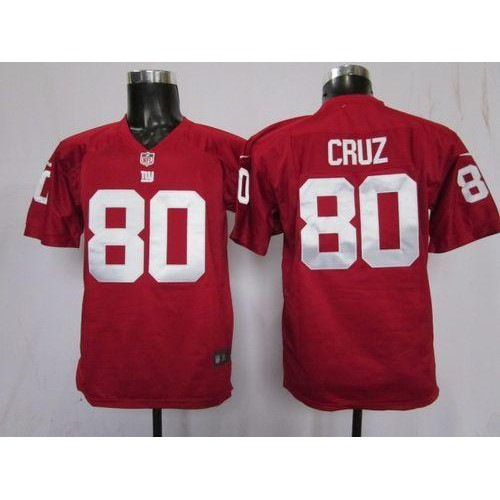 0e76247f65b Nike Giants #80 Victor Cruz Red Alternate Youth Stitched NFL Elite Jersey