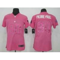 Nike Giants #90 Jason Pierre-Paul Pink Sweetheart Women's Stitched NFL Elite Jersey