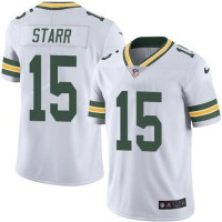 Nike Green Bay Packers #15 Bart Starr White Men's Stitched NFL Limited Rush Jersey