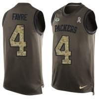 Nike Green Bay Packers #4 Brett Favre Green Men's Stitched NFL Limited Salute To Service Tank Top Jersey