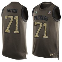 Nike Green Bay Packers #71 Josh Sitton Green Men's Stitched NFL Limited Salute To Service Tank Top Jersey