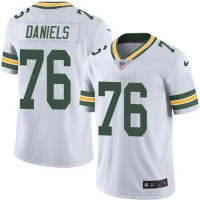 Nike Green Bay Packers #76 Mike Daniels White Men's Stitched NFL Limited Rush Jersey