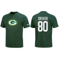 Nike Green Bay Packers #80 Donald Driver Name & Number NFL T-Shirt Green
