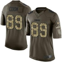 Nike Green Bay Packers #89 Jared Cook Green Men's Stitched NFL Limited Salute To Service Jersey