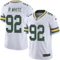 Nike Green Bay Packers #92 Reggie White White Men's Stitched NFL Limited Rush Jersey