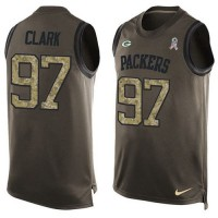Nike Green Bay Packers #97 Kenny Clark Green Men's Stitched NFL Limited Salute To Service Tank Top Jersey