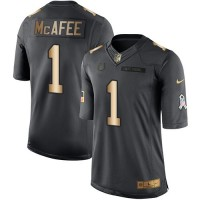 Nike Indianapolis Colts #1 Pat McAfee Anthracite Men's Stitched NFL Limited Gold Salute To Service Jersey